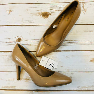 Merona Nude Tan Rounded Point Pump Heels